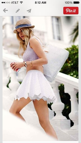 lauren conrad skirt white flouncy