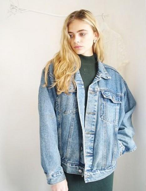 jacket denim grunge punk jeans vintage denim jacket oversized oversized jacket vintage jacket 90s style