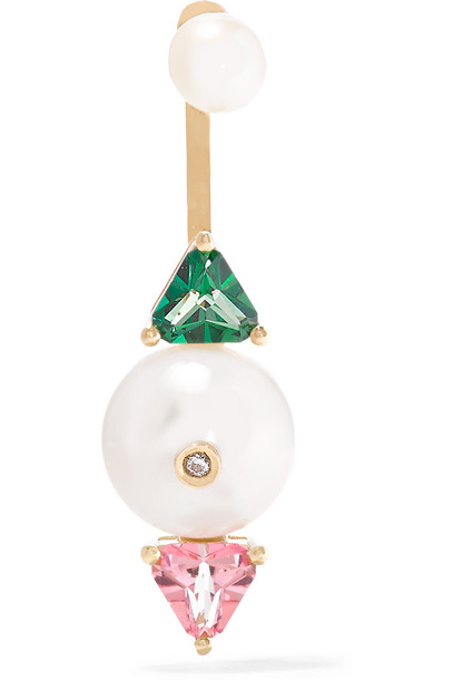 Delfina Delettrez gold green jewels