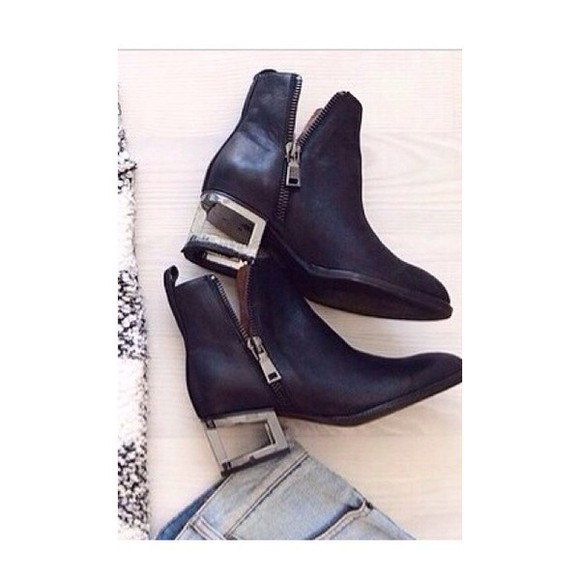 boots ankle boots clear heels