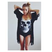scarf,beach,cover up,skull,swimwear,beach scarves,coat,shirt