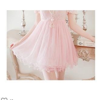 dress rose light rosé pink love sweet linen