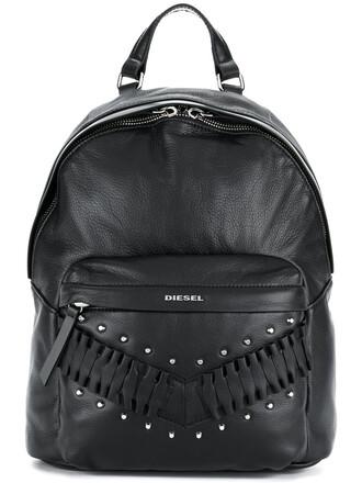 studded women backpack studded backpack leather black bag