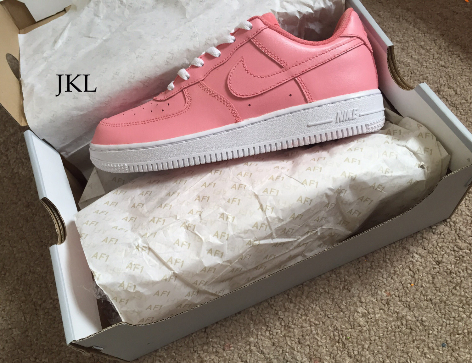 PINK PETALS Nike Air Force one, Nike Air Force 1 Pink, Petal Pink Nike,  Unisex Nike Air ...