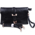 Black Vintage Buckle Leather Shoulder Bag - Sheinside.com