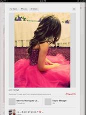 dress,hot pink,sparkle