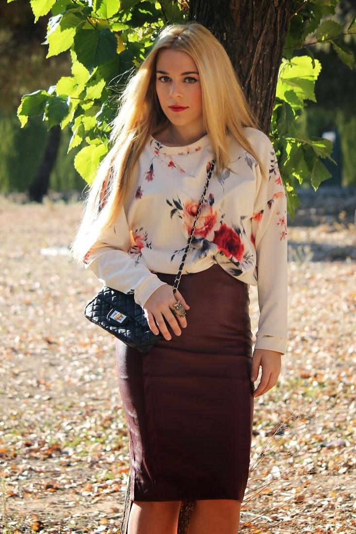 Pencil High Waisted Leather Skirt | Choies