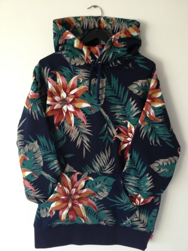sweater floral hoodie menswear tropical only supreme california summer fashion style sweatshirt jacket pattert