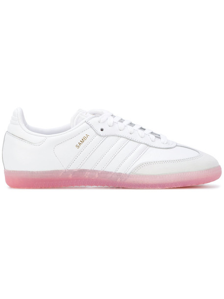 Adidas women sneakers leather white cotton shoes