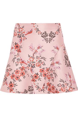 skirt mini skirt mini jacquard floral blush