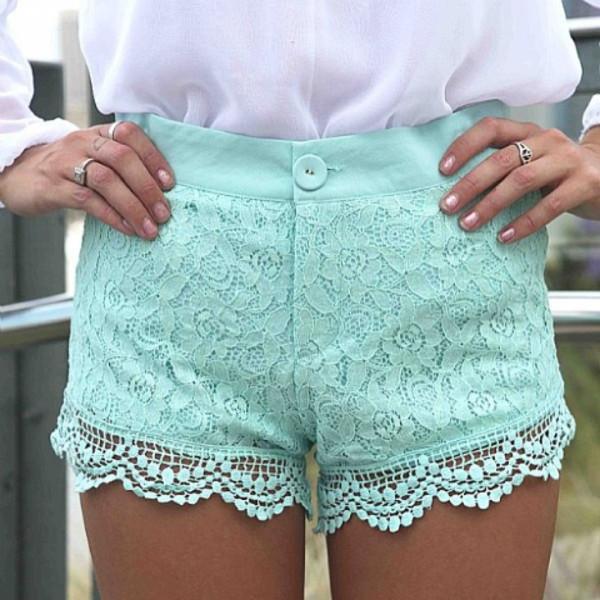 shorts aqua