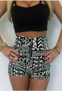 shorts tribal aztec print shorts