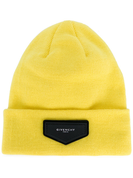 beanie yellow orange hat