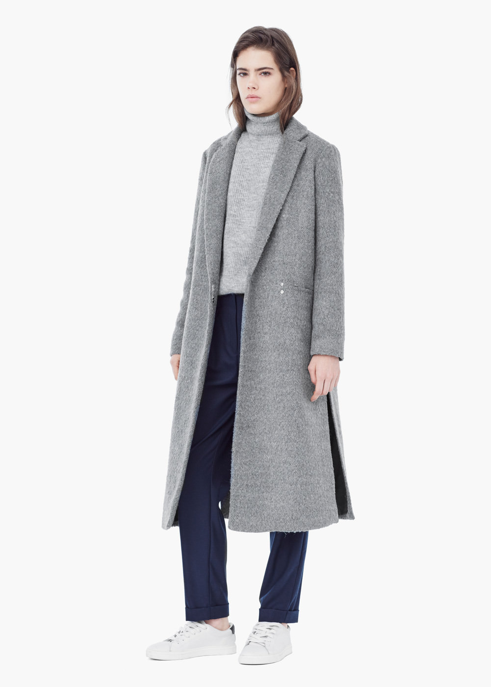 site réputé 21c15 4084f Textured long coat - Women | MANGO