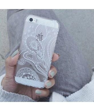 phone cover fashion cool stylish iphone white iphone cover transparent it girl shop ethnic tribal pattern