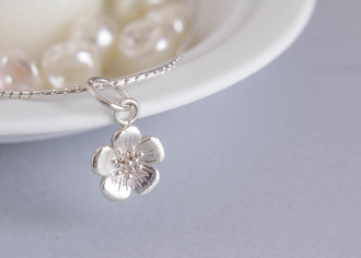 jewels buttercup flower charm charm silver charm silver necklace silver bracelet