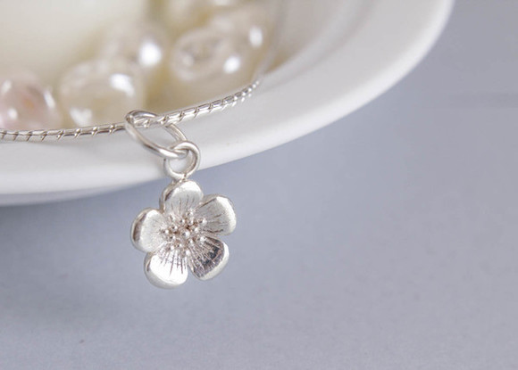 jewels buttercup flower charm charm silver charm silver necklace silver necklaces silver bracelets silver bracelet