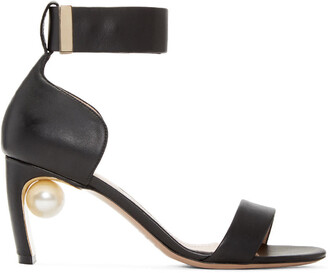 pearl sandals black shoes