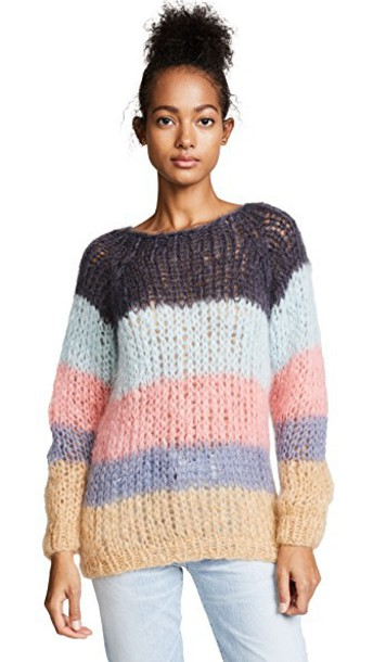 ONE by sweater striped sweater dark grey