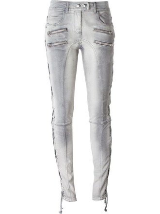 jeans lace grey