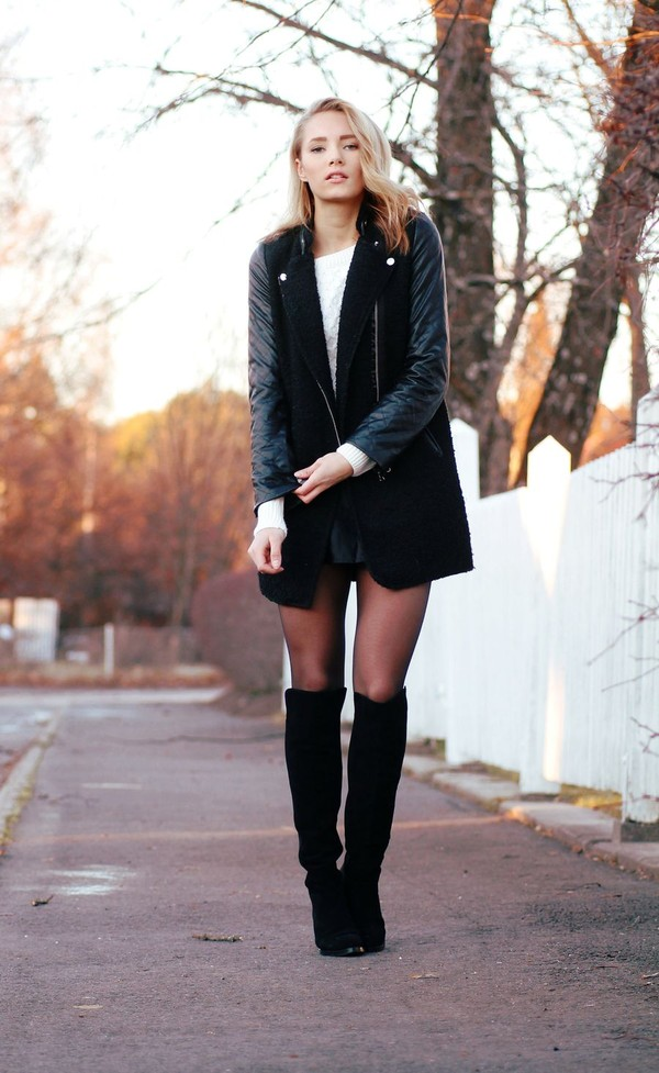 petra karlsson jacket shoes sweater skirt