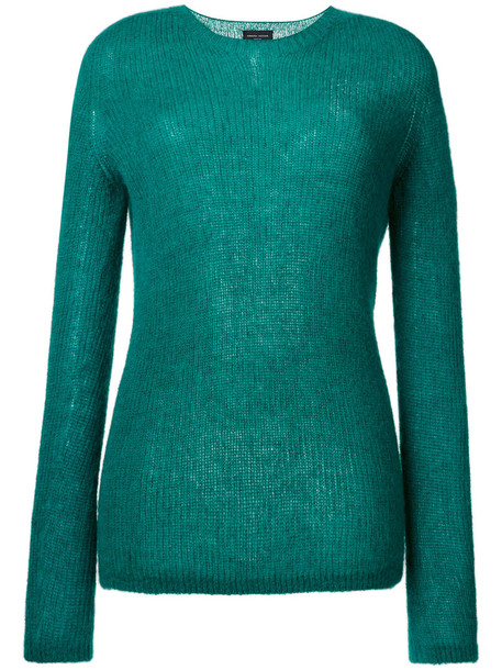 Roberto Collina sweater women spandex mohair green