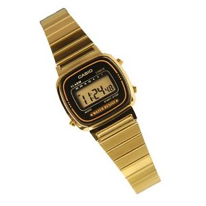 Casio LA670WGA 1 Women's Metal Band Vintage Gold Tone Digital Watch | eBay