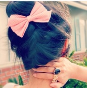 jewels,hair bow,hat,hair accessory,claire's bows,bag,ring,cute,bow,pink