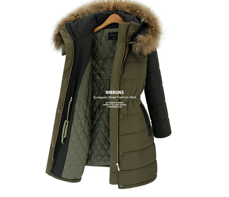 NEW Winter Women Coat 2015 Fashion Cotton Jacket Warm Long Coat ...