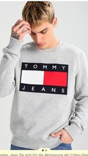 sweater,sweatshirt,grey,tommy hilfiger,tommy hilfiger sweatshirt,tommy hilfiger 90s,sold out everywhere