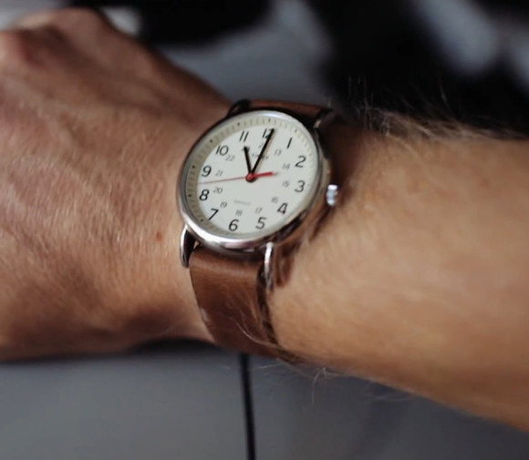 white jewels mrbenbrown analogue Watch leather brown