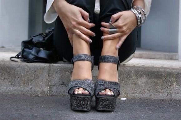 high heels peep toe