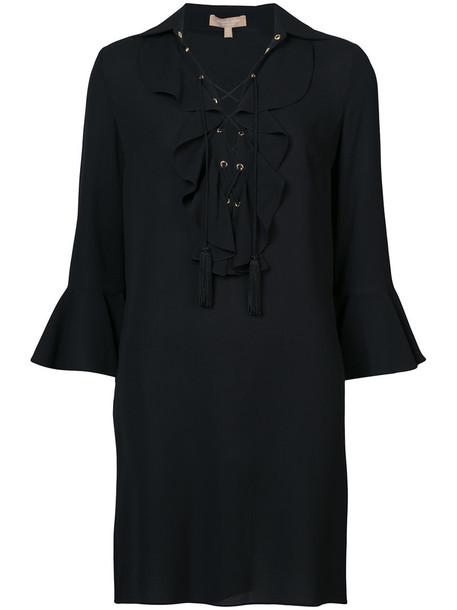 Michael Kors dress shift dress women lace black silk