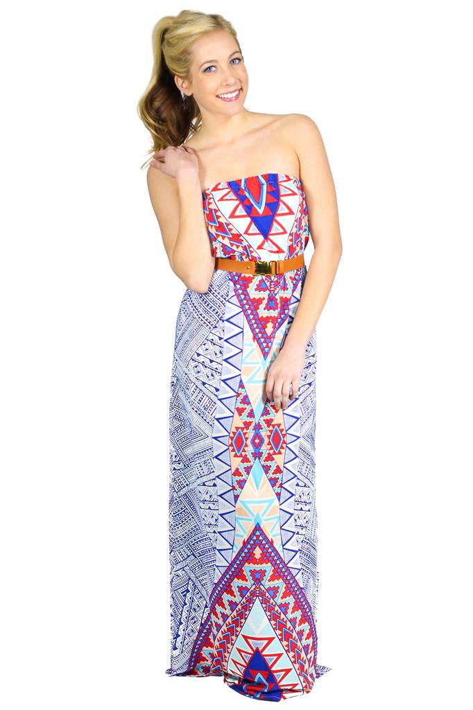 Aztec Print Maxi - uoionline.com: Women's Clothing Boutique