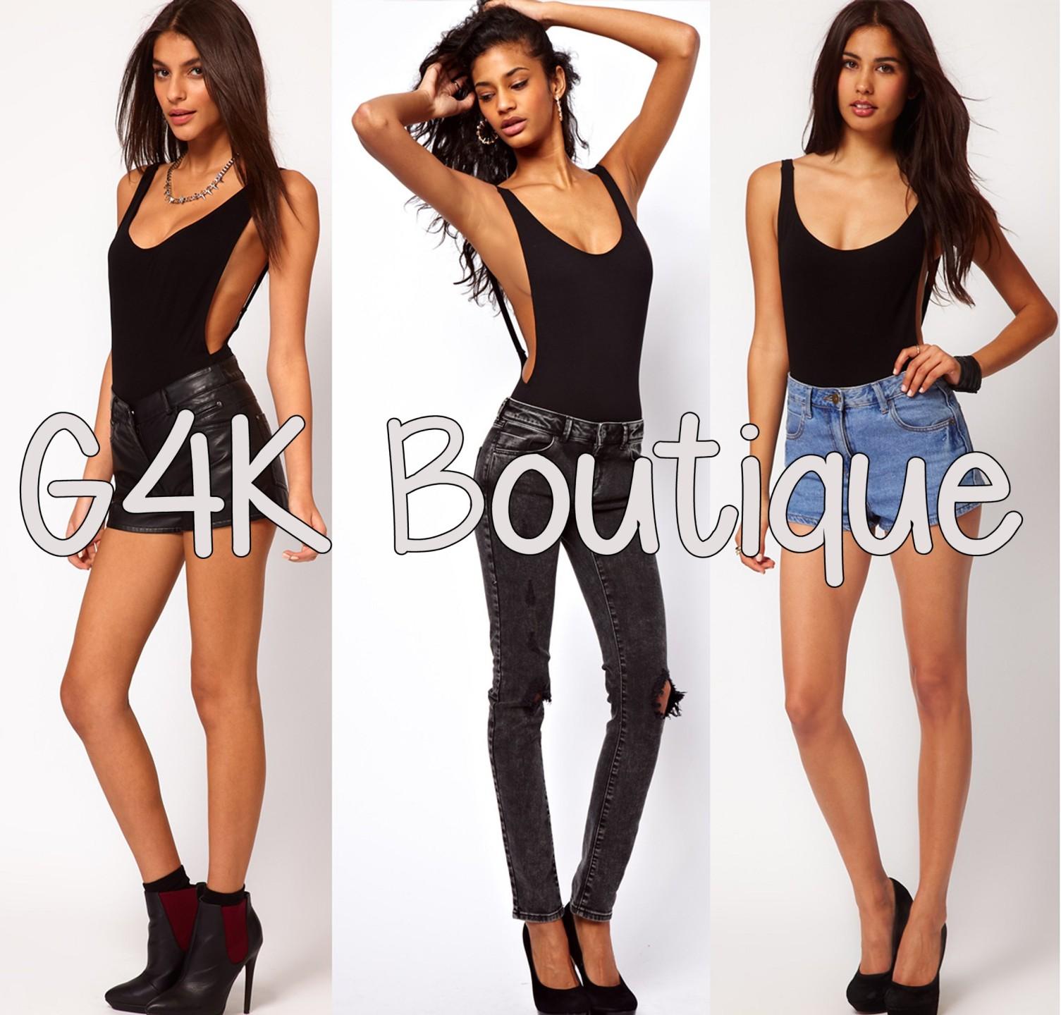 Womens asos backless black cut out bodysuit leotard ladies party bralet body top