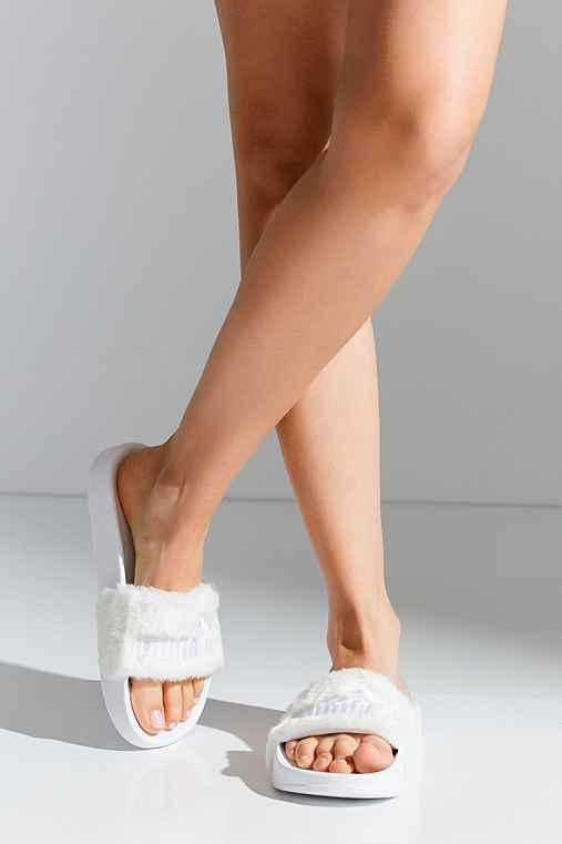 ... top fashion a6f2d 94839 Puma Fenty by Rihanna Leadcat Faux Fur Slide -  Urban Outfitt ... f6c857dc576a
