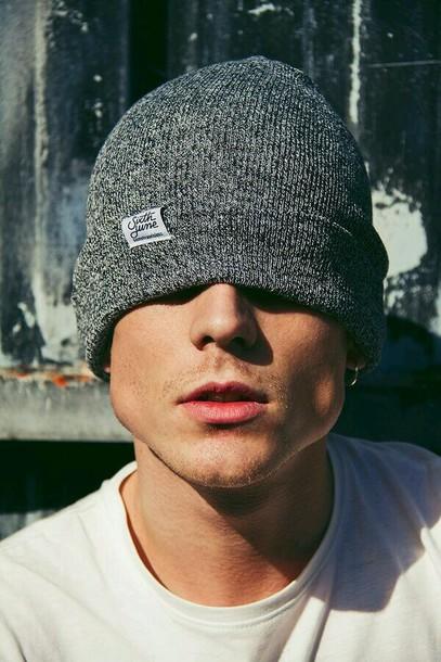 hat grey beanie