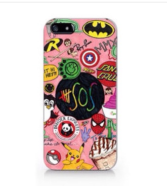 phone cover starbucks coffee 5 seconds of summer pokemon spider-man captain america panda express phone