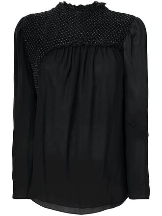 top women black silk