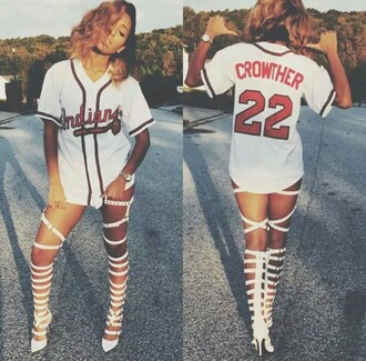 shirt baseball jersey jersey dress white t-shirt red words white and red