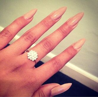nail polish engagement ring