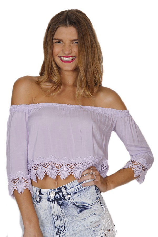 Lilac and Lace Crop Top