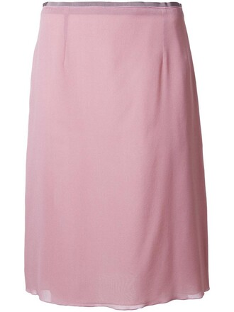 skirt pencil skirt women classic spandex silk purple pink