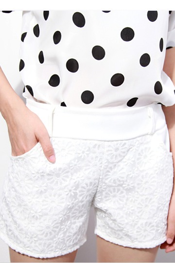 White Organza Summer Short [FJCE0089]- US$ 9.99 - PersunMall.com