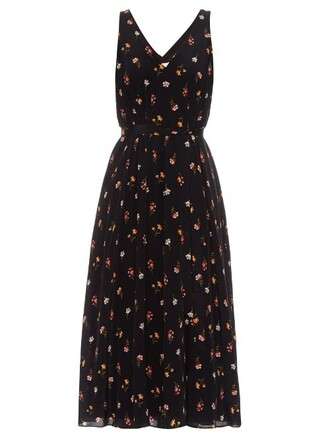 dress print silk black