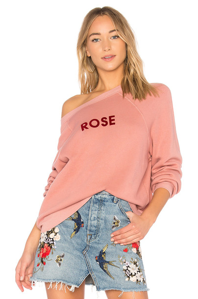 Wildfox Couture sweatshirt rose sweater