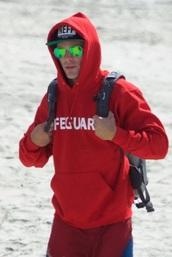 sweater,zac efron,red,sweatshirt,red sweatshirt,baywatch,hoodie,baywatch hoodie,red and white letters
