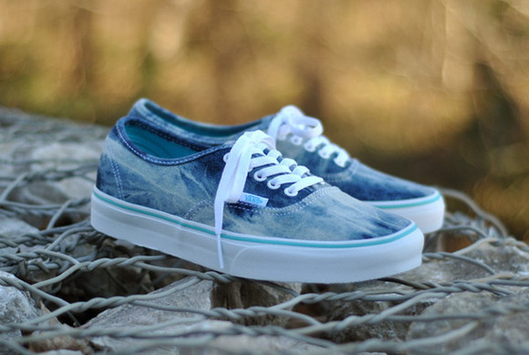 acid wash denim shoes acid-wash denim acid wash vans sneakers vans vans shoes