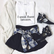 top,t-shirt,shoes,cardigan,knitted cardigan,flannel shirt,necklace,make-up