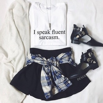 blouse quote on it sommer sarcasm t-shirt skirt
